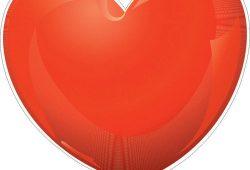 Шар сердце, дизайн #06607