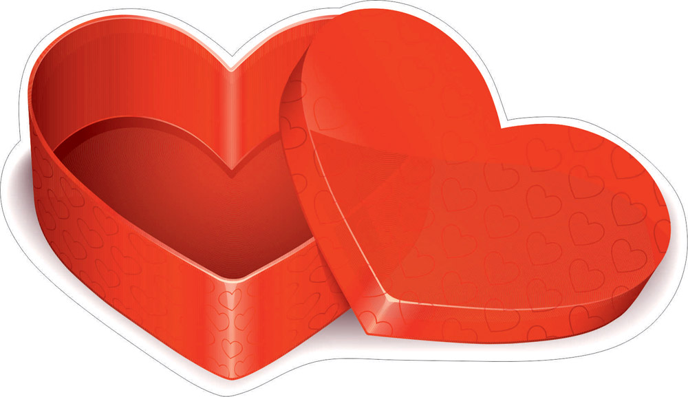 Наклейки Коробка сердце, дизайн #06609
