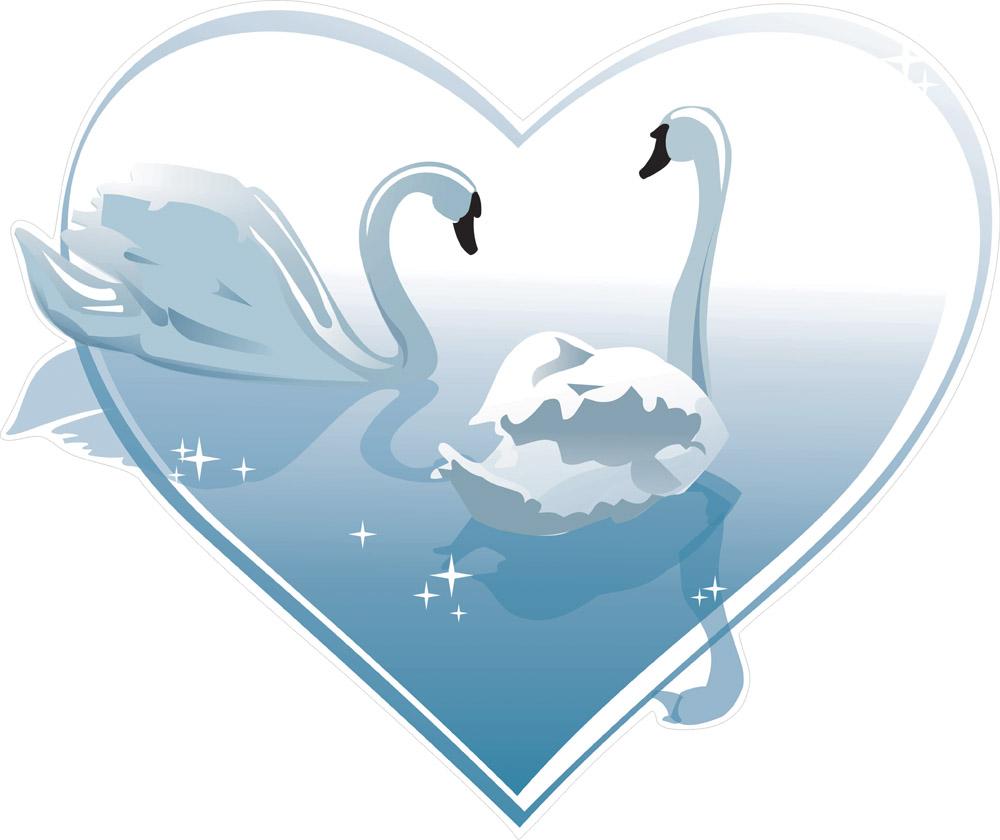 Наклейки Лебеди, дизайн #06612