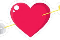 Стрела в сердце, дизайн #06617