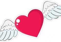 Окрылённое сердце, дизайн #06621