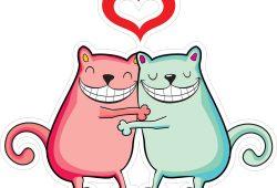 Коты любовь, дизайн #06625