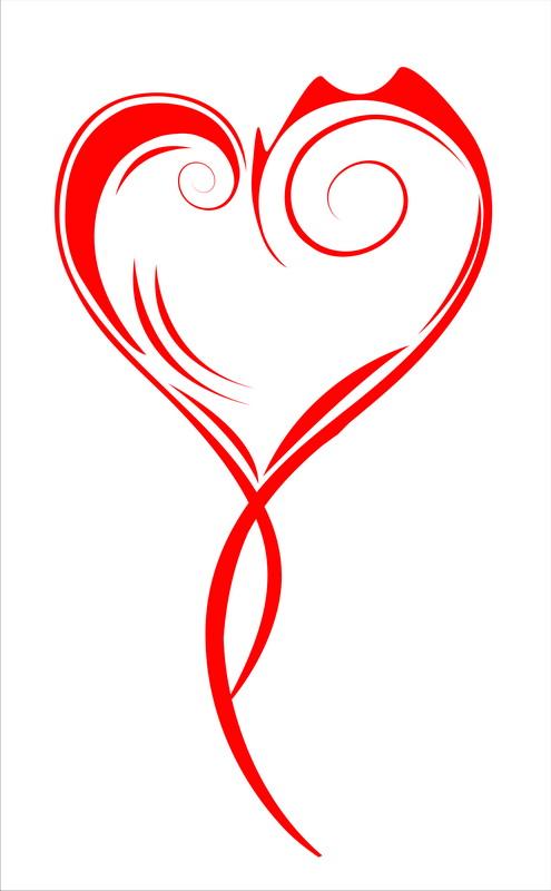 Печать на холсте Витое сердце, дизайн #05818
