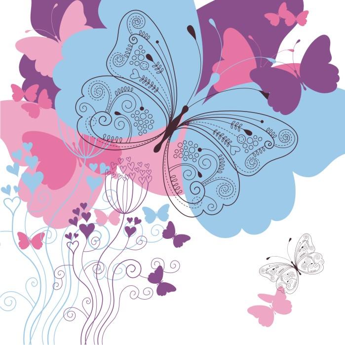 Римские шторы Бабочки