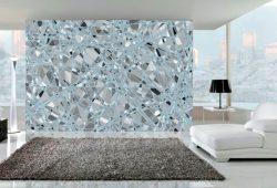 Фотообои дизайн Разбитое стекло пример в интерьере