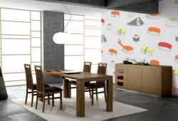 Фотообои дизайн Суши пример в интерьере