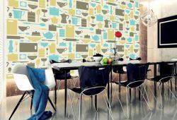 Фотообои дизайн Кухонные принадлежности пример в интерьере