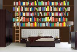Фотообои дизайн Библиотека пример в интерьере