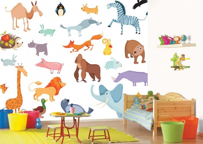 Фотообои под заказ Фотообои дизайн Животные пример в интерьере