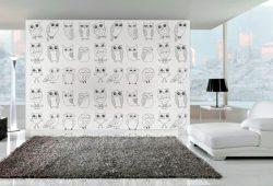 Фотообои дизайн Совы пример в интерьере