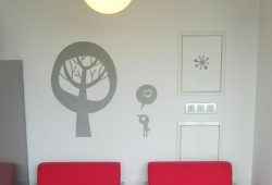 Наклейки дизайн Mon Amour пример в интерьере