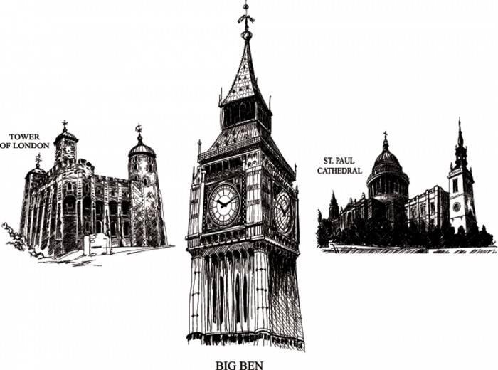 Печать на холсте Архитектура Лондона