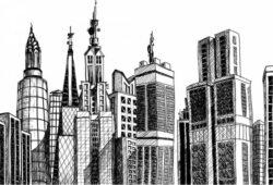 Печать на холсте Мегаполис