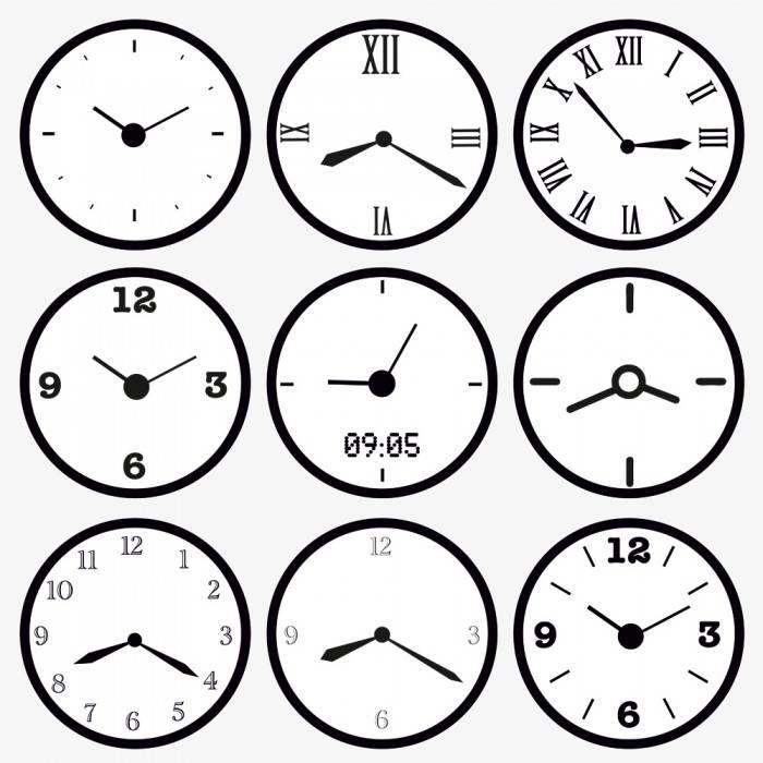 фотообои часы: