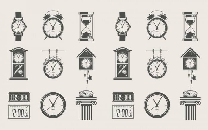 Постеры Старые часы