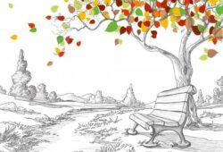Лавочка под деревом