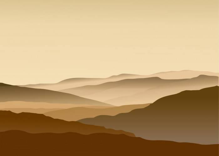 Японские панели Коричневые холмы