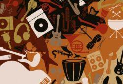 Печать на холсте Музыка
