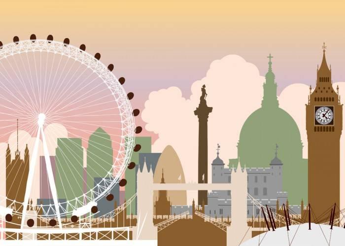 Печать на холсте Вид на Лондон