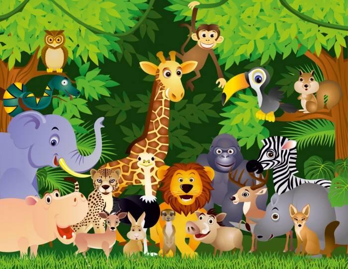 Фотообои под заказ Животные в джунглях