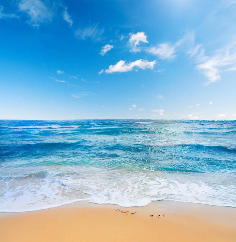 Римские шторы дизайн Пляж