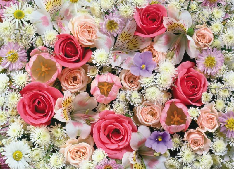 Римские шторы дизайн Букет роз