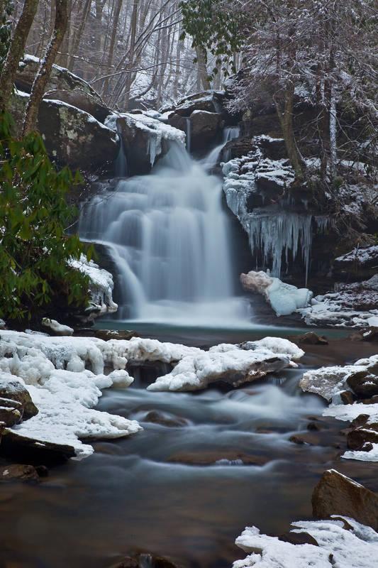 Постеры Зимний водопад
