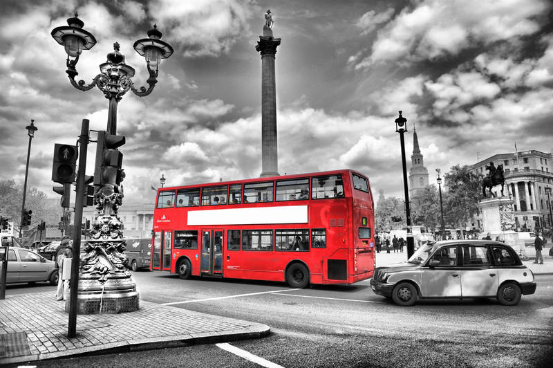 Печать на холсте Лондонский красный автобус