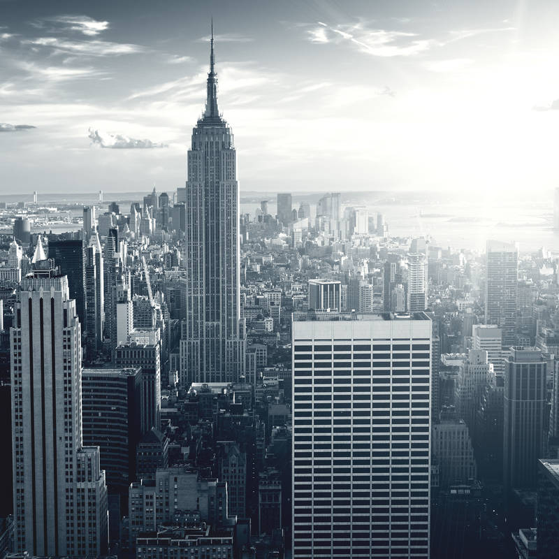 черно белый картинки город