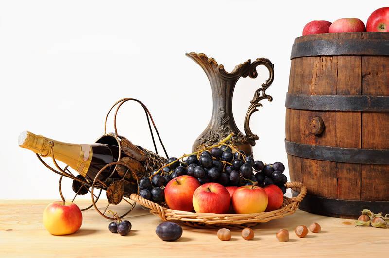 Фотообои под заказ Виноград и яблоки