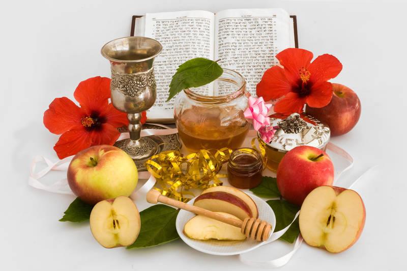 Фотообои под заказ Мед и яблоки