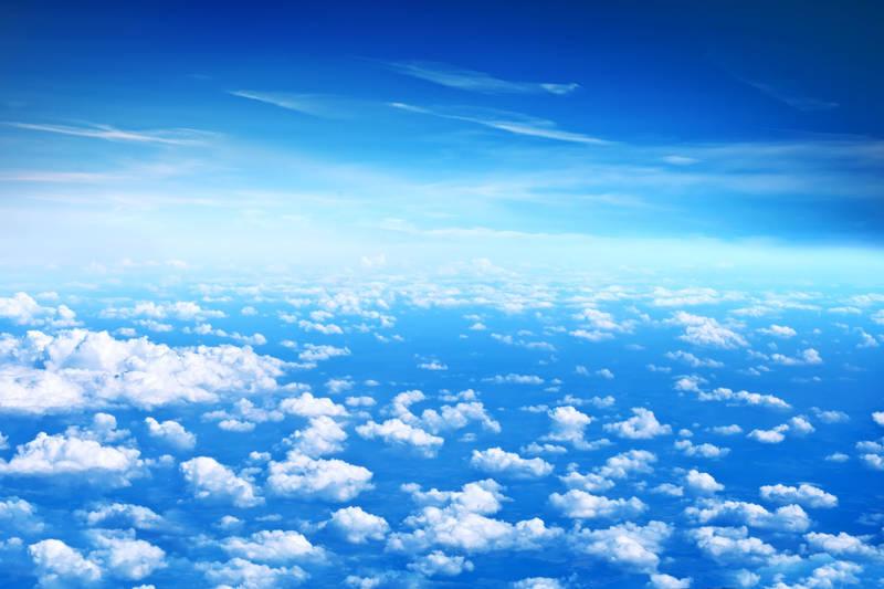 Римские шторы Над облаками