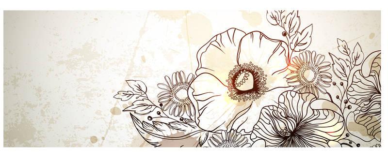 Скинали для кухни Букет цветов