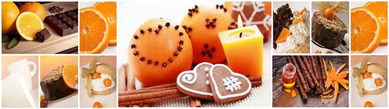 Скинали для кухни Апельсин с корицей