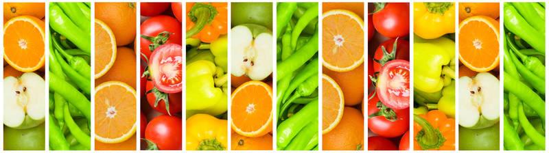 Скинали для кухни Фрукты и овощи