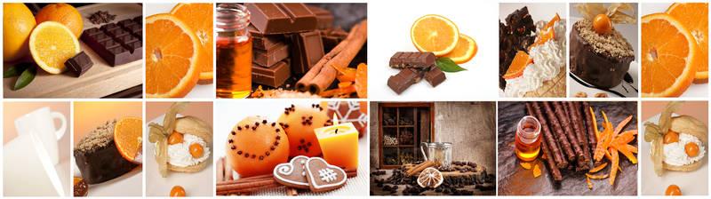 Скинали для кухни Апельсин, корица и шоколад