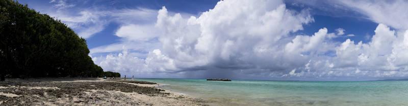 Скинали для кухни Облака над морем