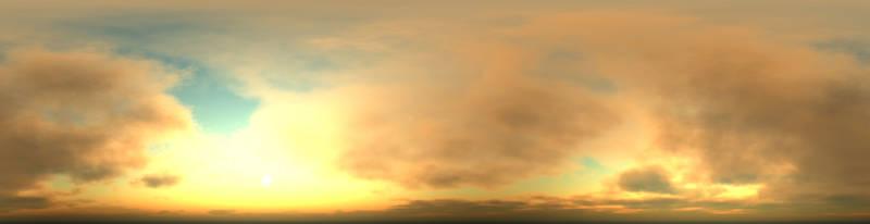 Скинали для кухни Солнце за облаками