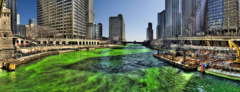 Скинали для кухни Зеленая река