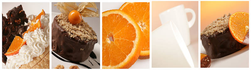 Скинали для кухни Апельсин и шоколад