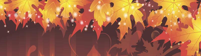 Скинали для кухни Осенние листья