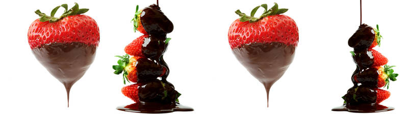Скинали для кухни Клубника в шоколаде