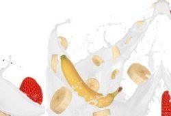 Банан и клубника