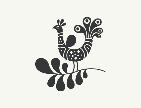 Наклейки Птица Эдемского сада