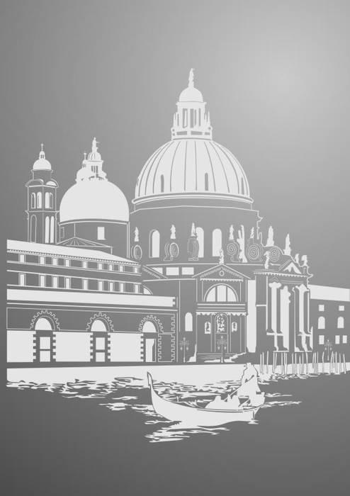 Матирование стекла Венеция