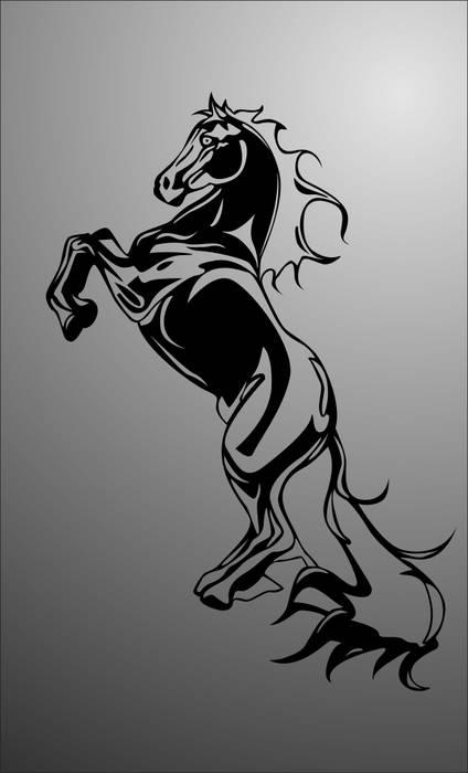 Матирование стекла Лошадь