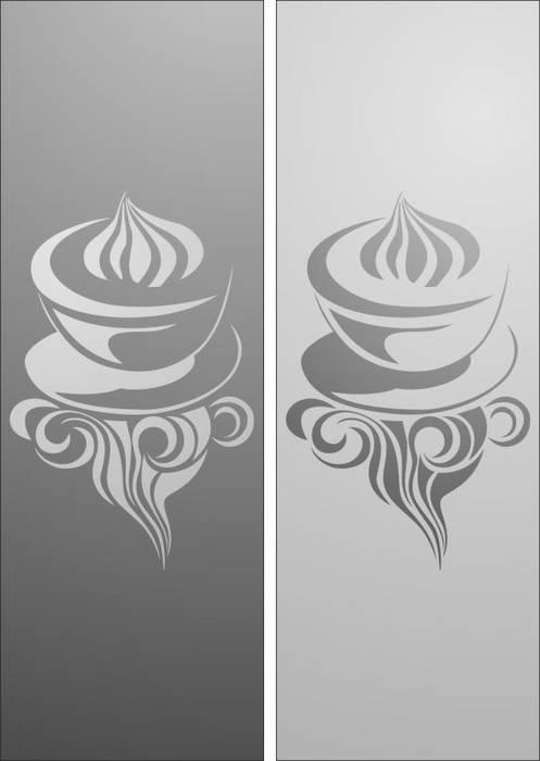 Матирование стекла Кофе