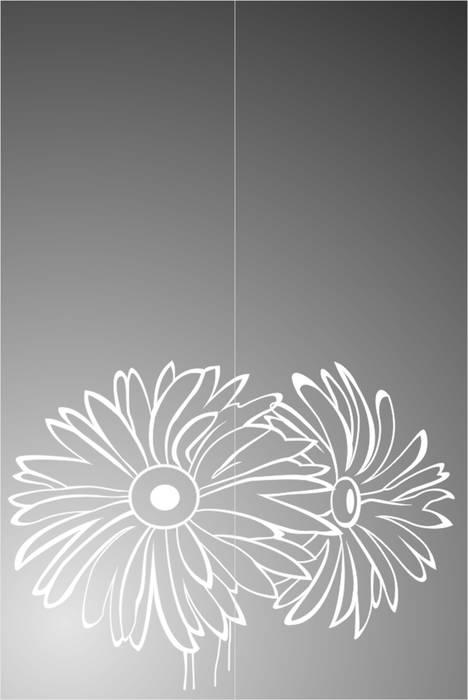 Матирование стекла Хризантемы