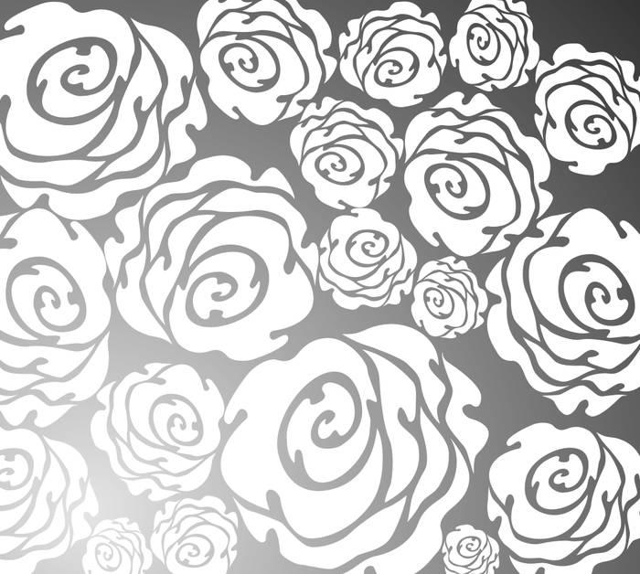 Матирование стекла Розы