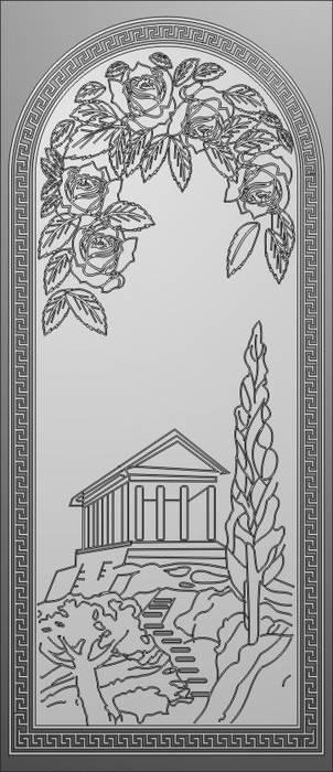 Матирование стекла Амфитеатр